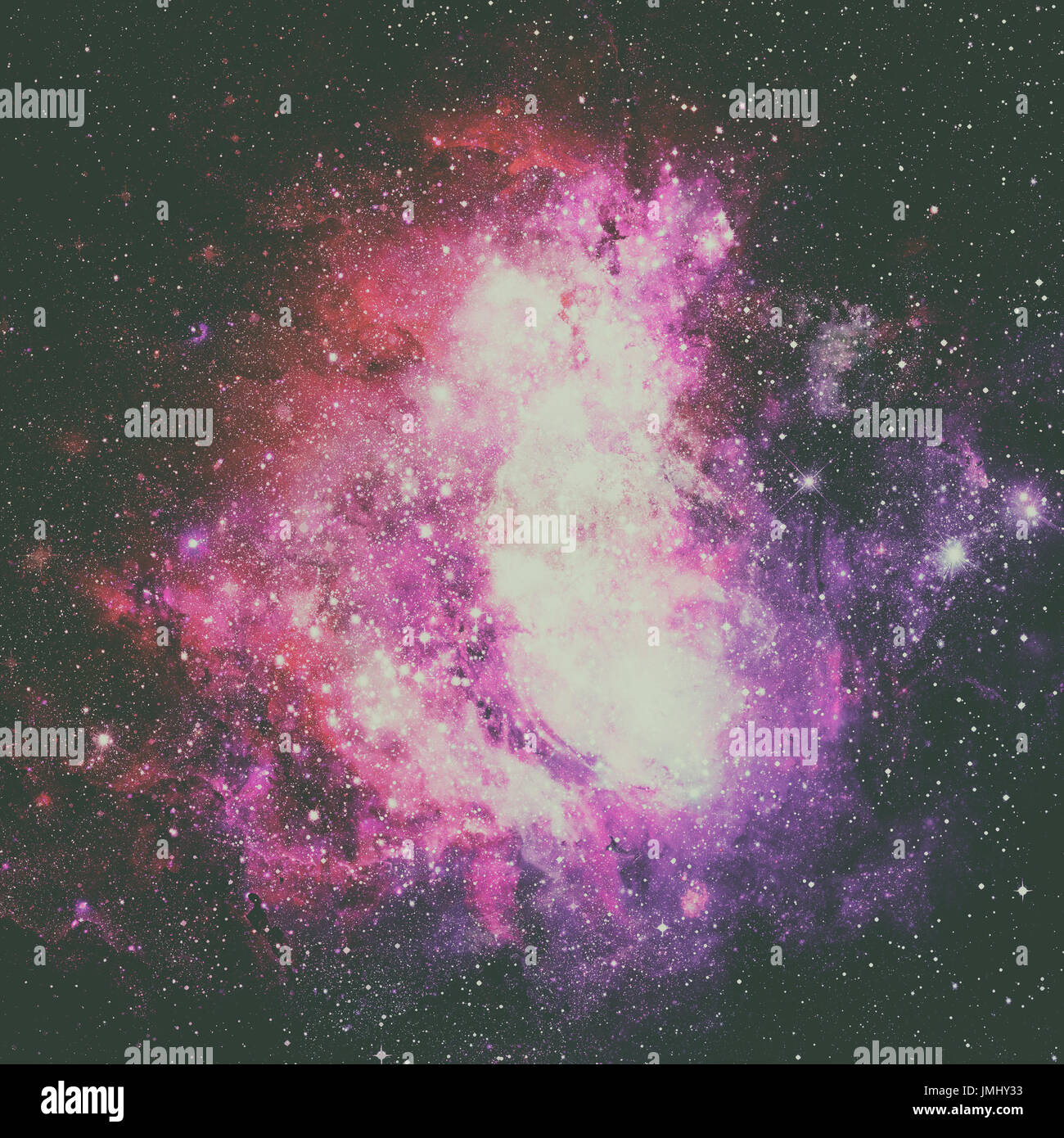 Beautiful nebula, stars and galaxies. Elements of this image furnished by NASA. - Stock Image