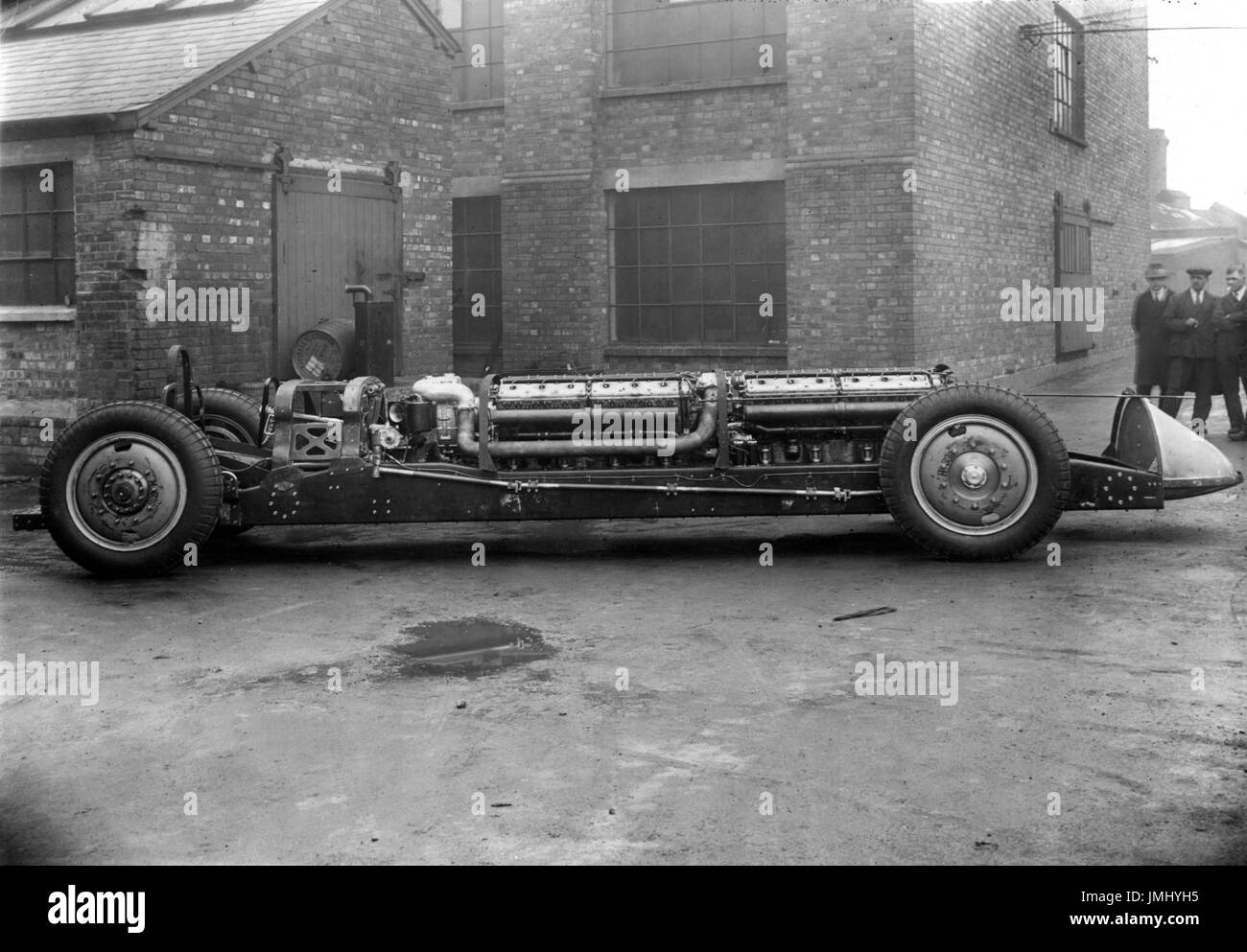 Silver Bullett land speed record car Chassis at factory in Wolverhampton - Stock Image
