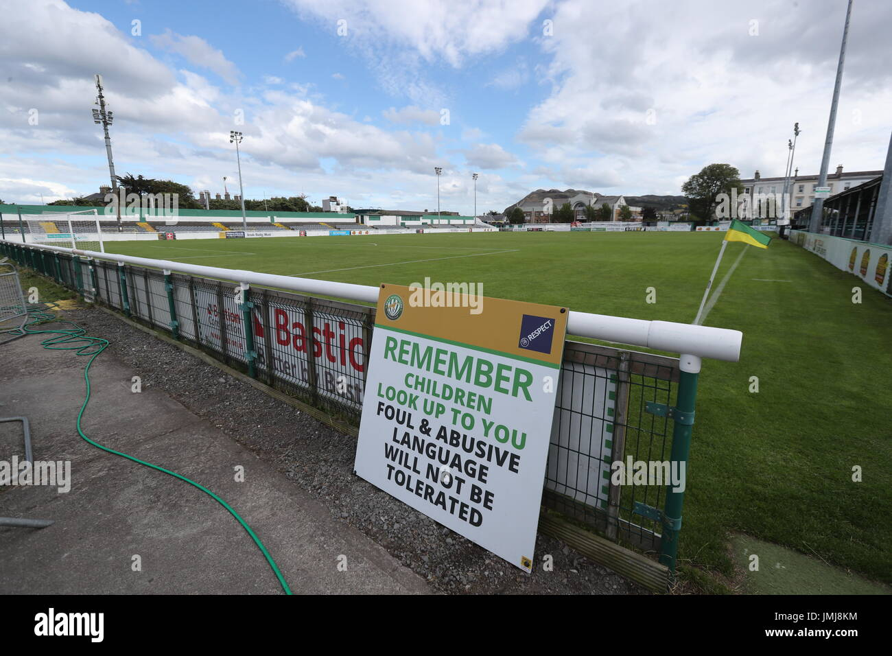 f9c091f18e91a A general view of The Carlisle Grounds, home of Bray Wanderers football  club.