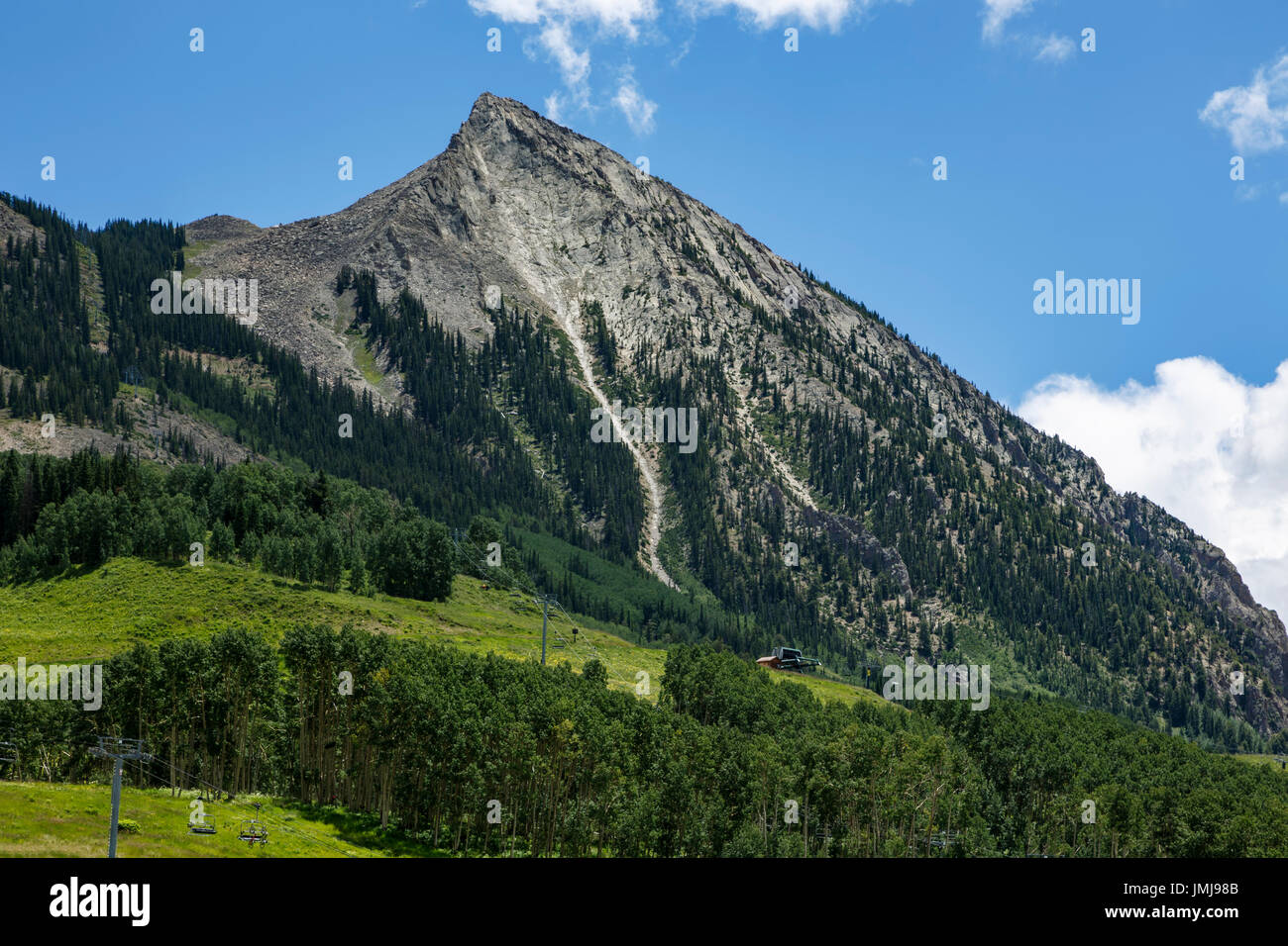 Mount Crested Butte (12,162 ft.), Crested Butte, Colorado USA - Stock Image