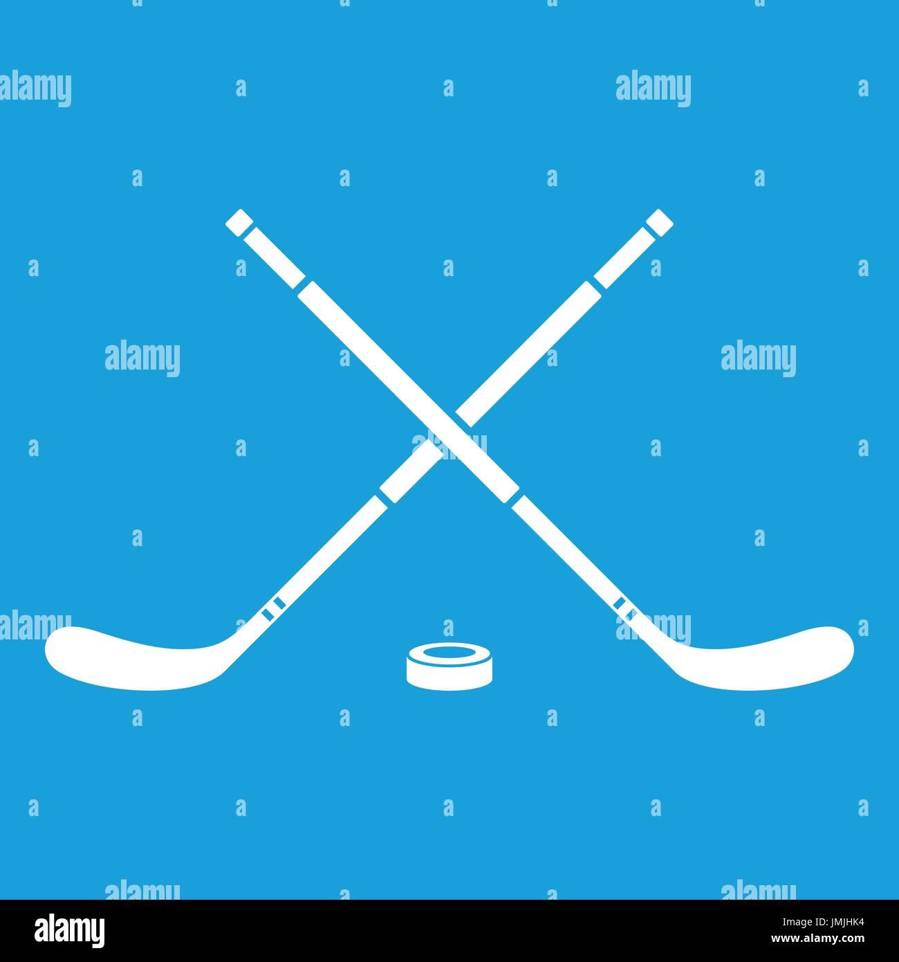 Hockey icon white - Stock Vector