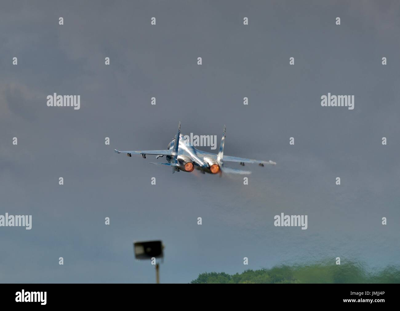 Su-27 Flanker fighter jet - Stock Image