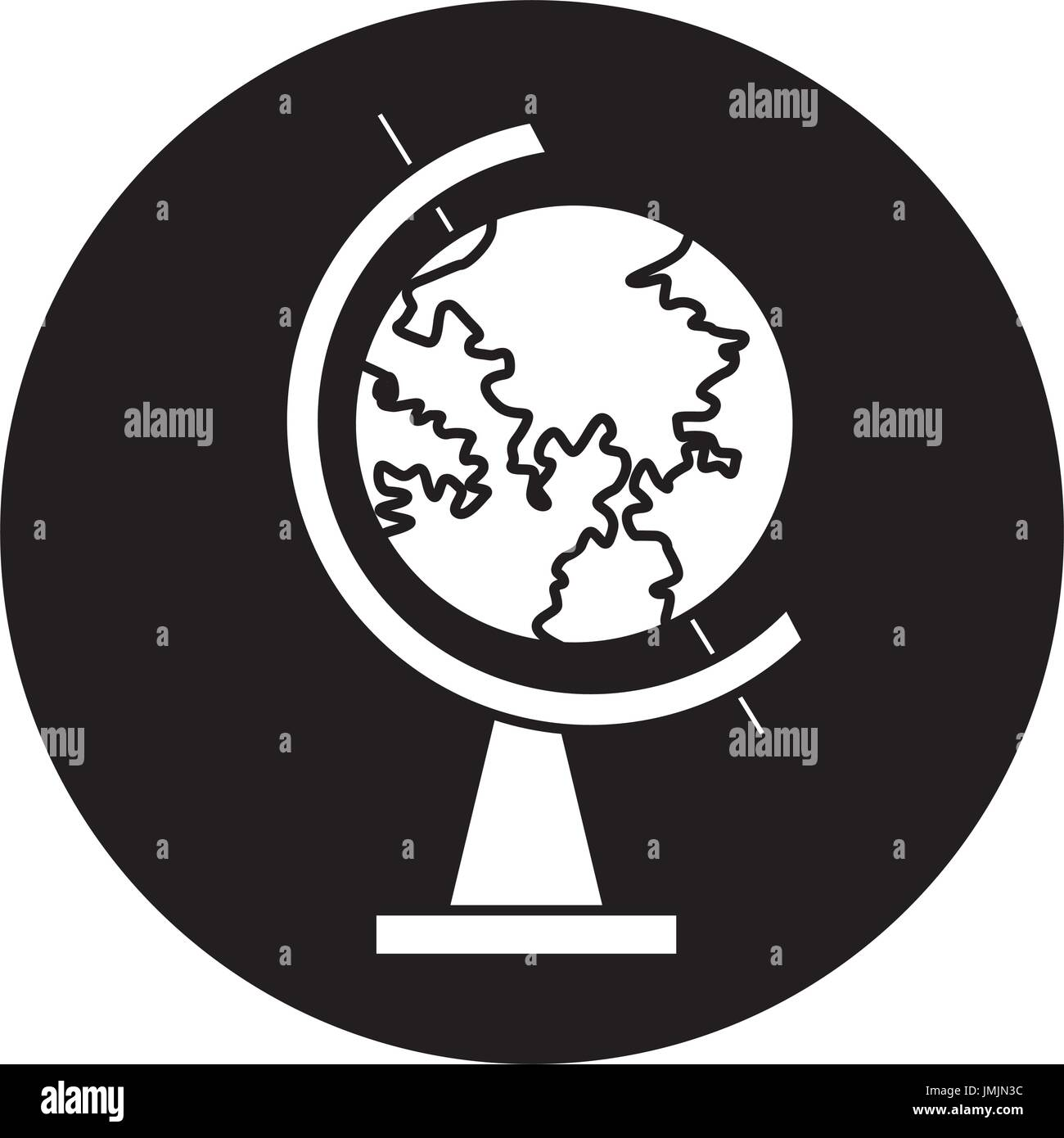 school globe map geography navigation study - Stock Vector