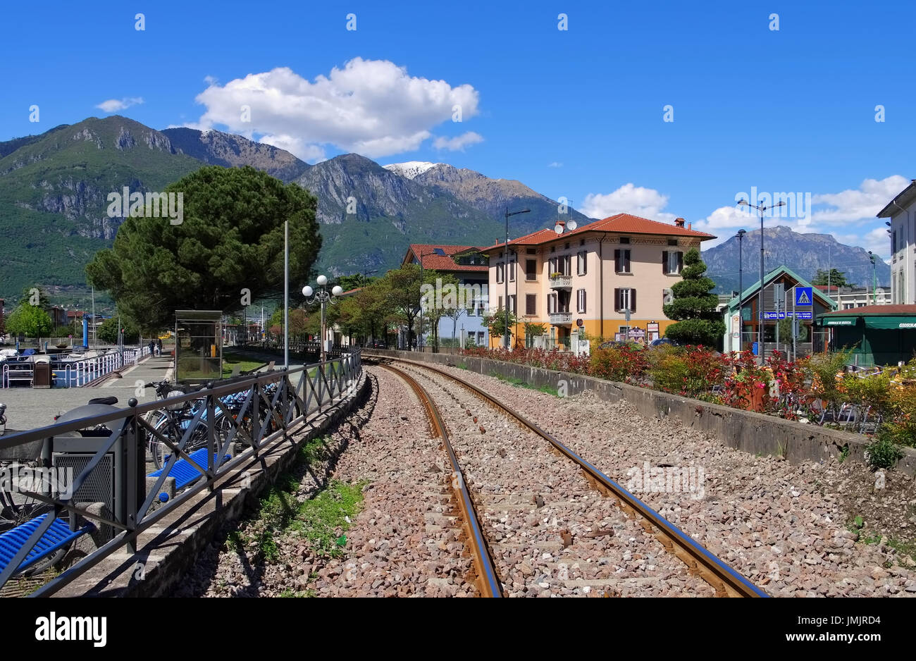 Pisogne railway near Iseo lake, Lombardy in Italy - Stock Image