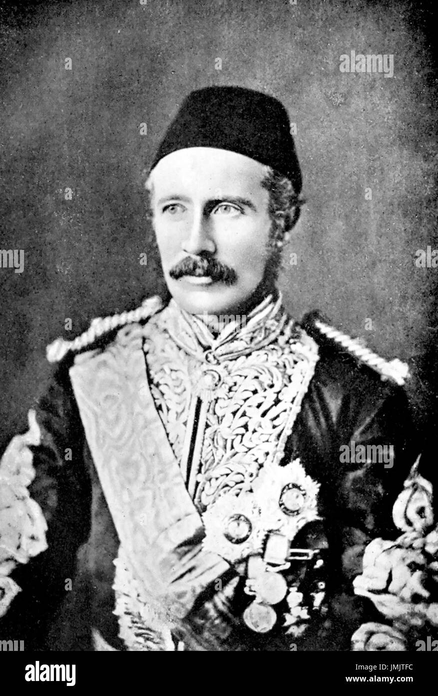 CHARLES GEORGE GORDON (1833-1885) British Army officer wearing Egyptian uniform in the Sudan about 1872 - Stock Image