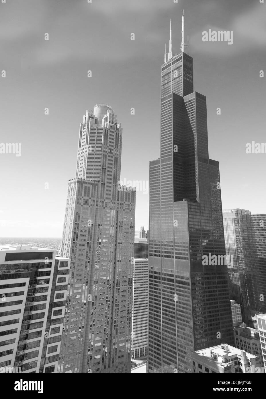 The world-famous Sears Tower in full glory - Stock Image