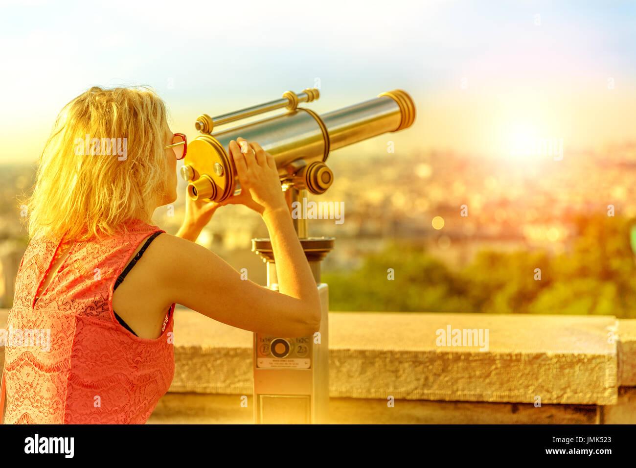 Woman Montmartre Paris - Stock Image