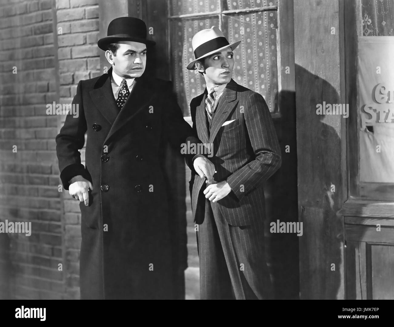 LITTLE CAESAR 1931 Warner Bros film with Edward G. Robinson at right and George E. Stone - Stock Image