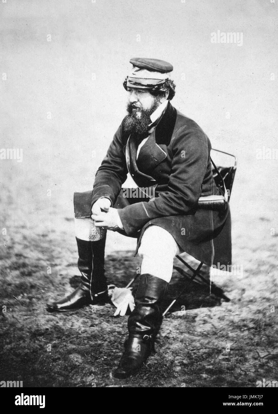 WILLIAM HOWARD RUSSELL (1820-1907) Irish war correspondent with TheTimes photographed in the Crimea about 1854 - Stock Image