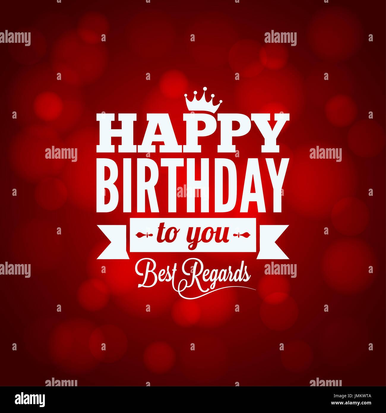 Happy Birthday Sign Design Background 10 Eps Stock Photo Alamy