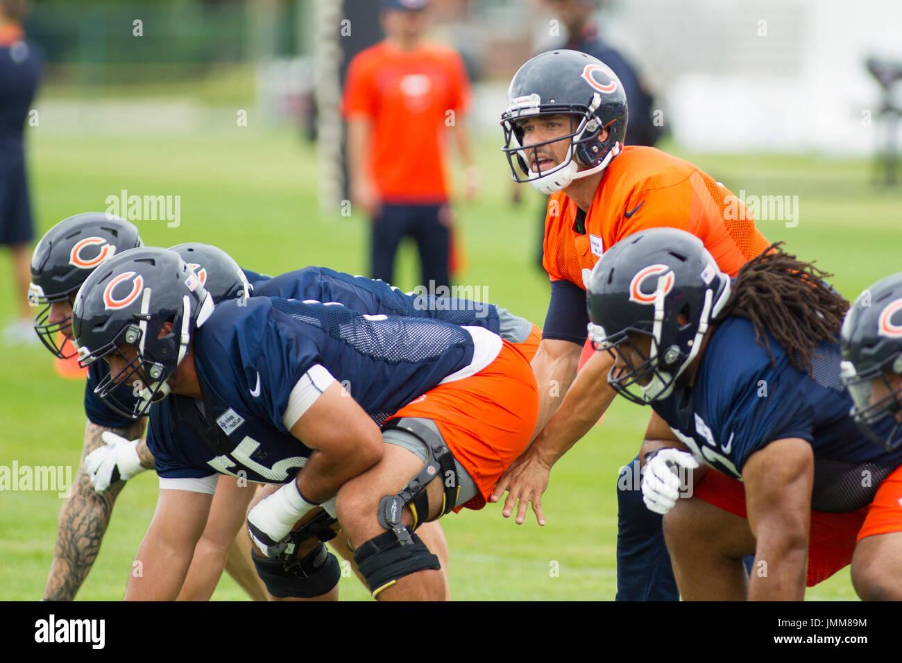 e2d382f6d8924d Bourbonnais, Illinois, USA. 27th July, 2017. - Chicago Bears Quarterback #