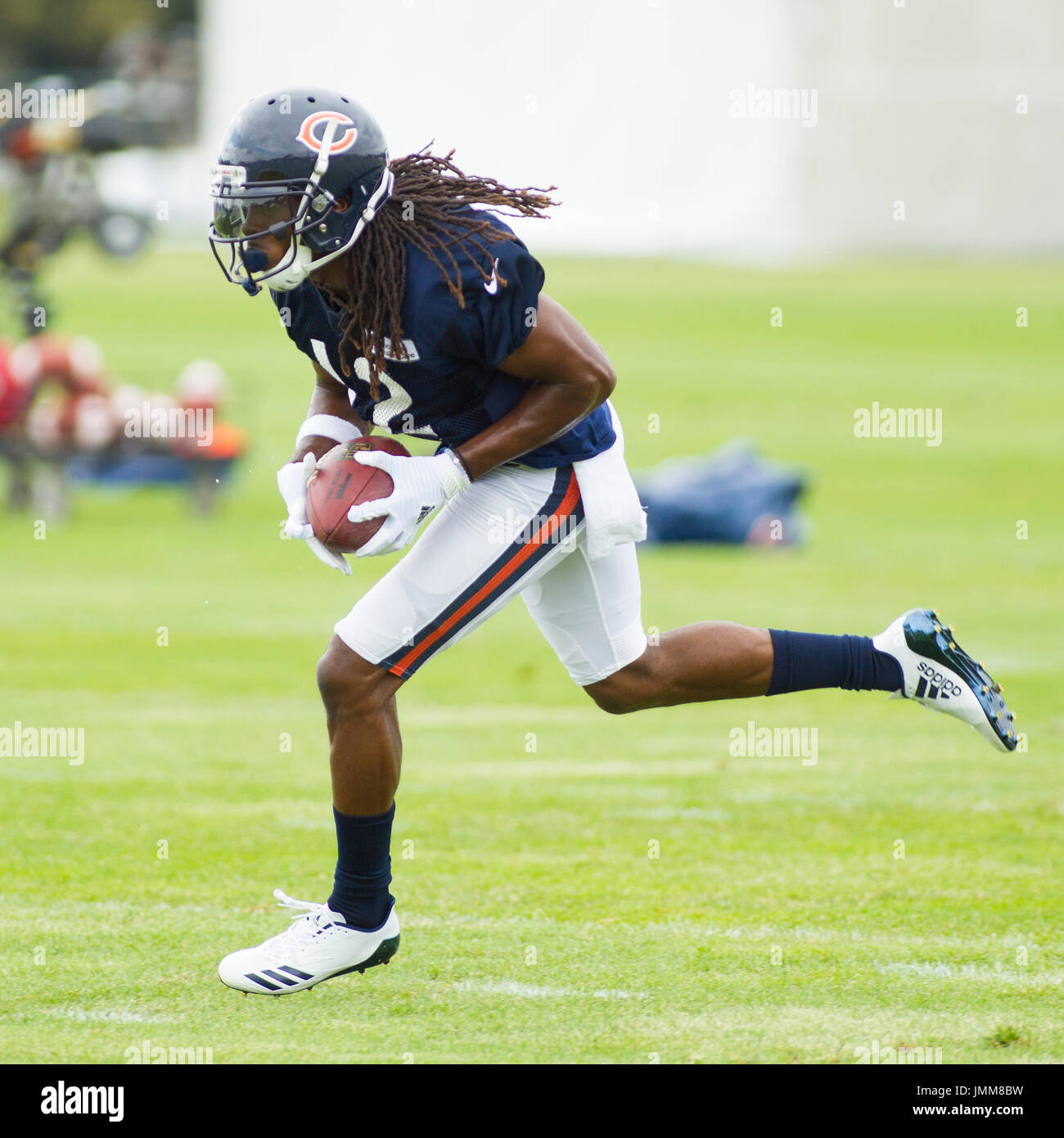 43640bb4e Chicago Bears  12 Marcus Wheaton in action during training camp on the  campus of Olivet Nazarene University