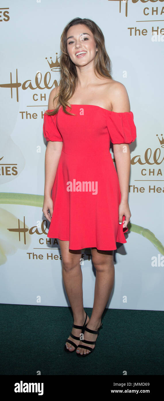 California,USA. 27th July,2017. Sadie Robertson attends Hallmark Channel Hallmark Movies Mysteries 2017 Summer TCA Tour July 27,2017 Beverly Hills,California. - Stock Image