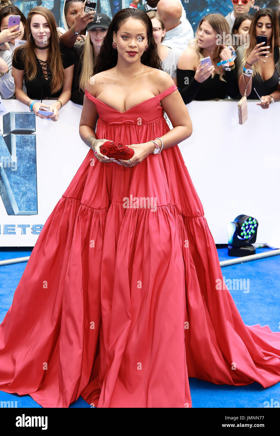 Rihanna attends the European premiere of Valerian and the ...