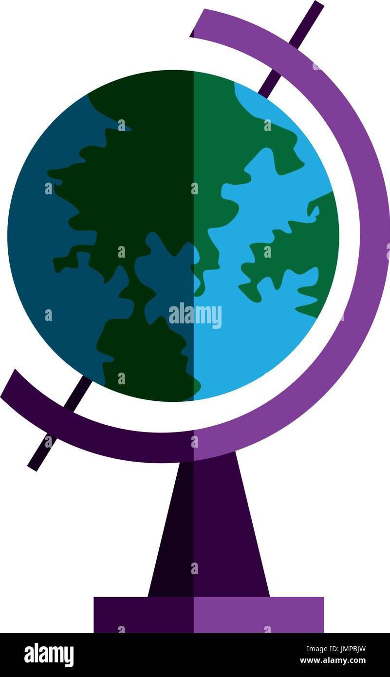 school globe geography navigation location map Stock Vector