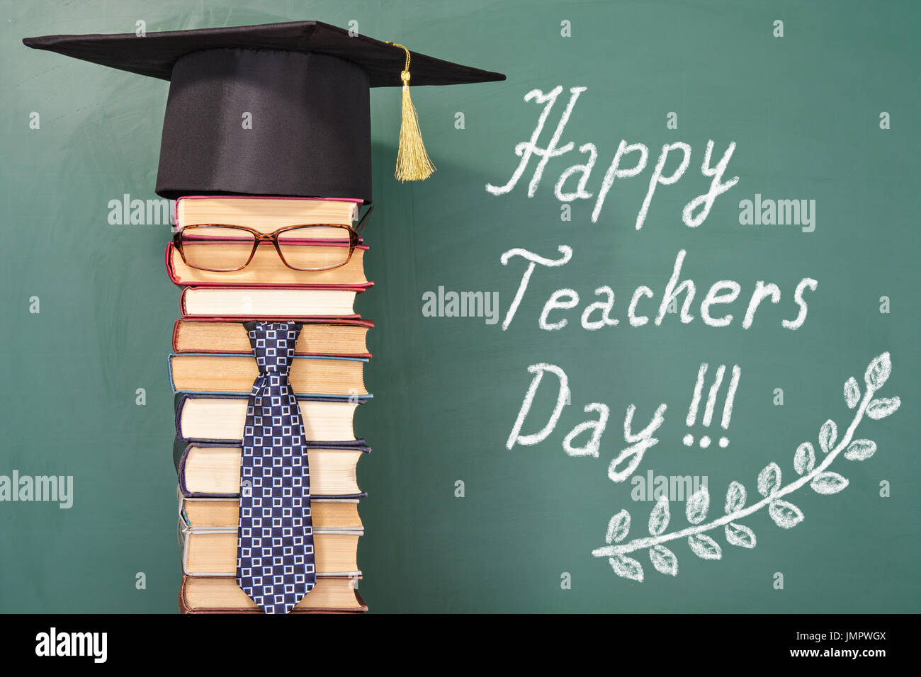 Happy teachers day funny concept - Stock Image