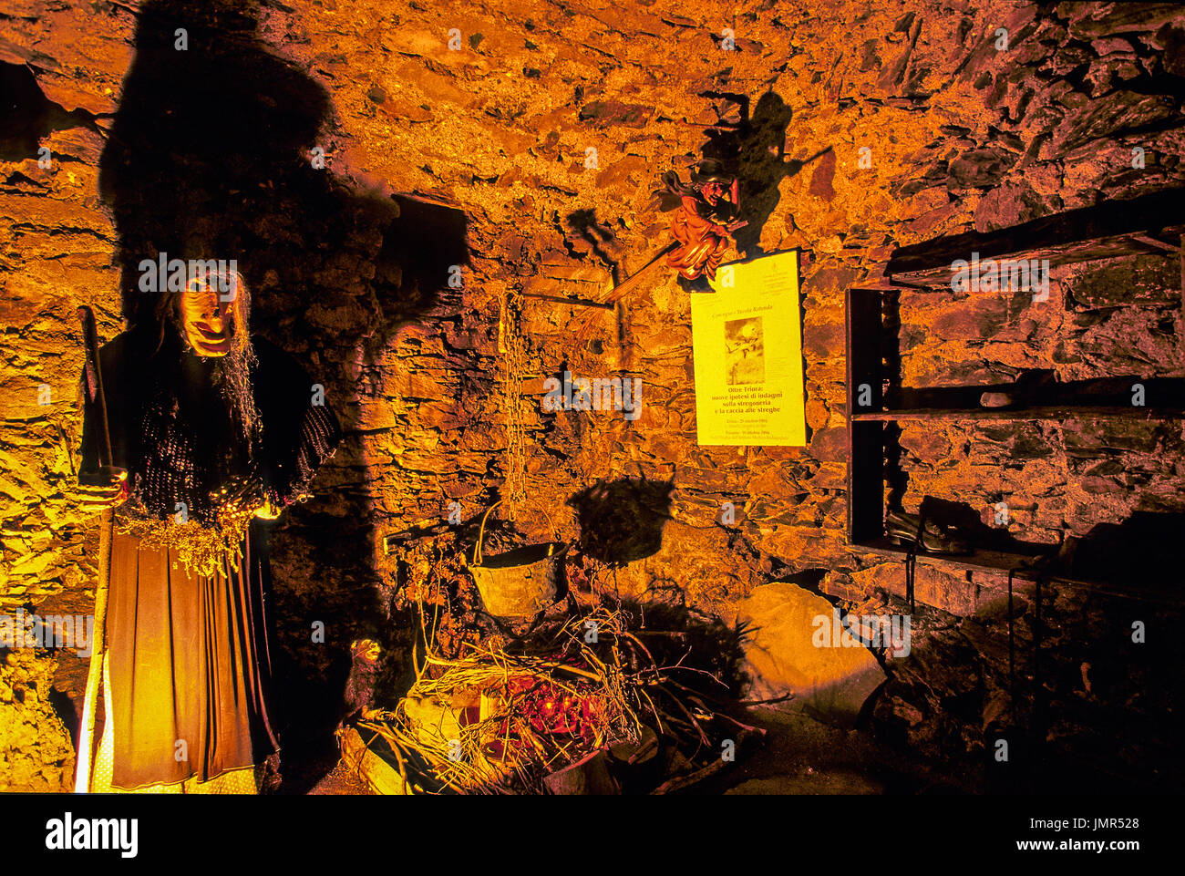 Italy  Liguria Valle argentina Triora Ethnographic and witchcraft - Stock Image