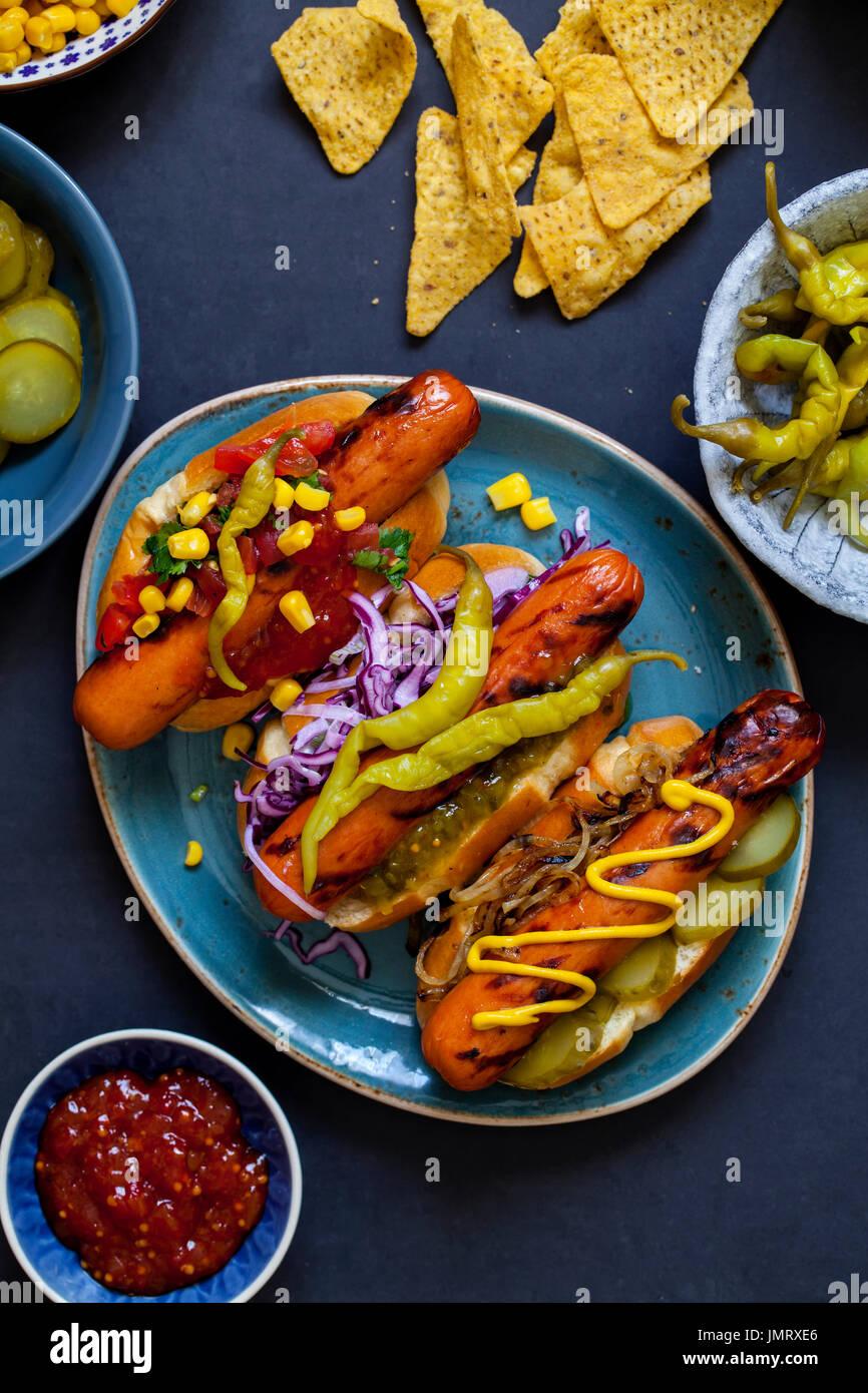 Gourmet ho dog - Stock Image