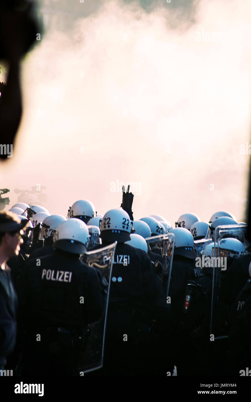 G20,GIpfel Welcome to hell - Stock Image