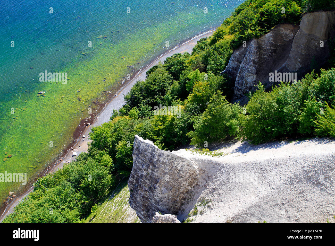 Chalk coast, Jasmund National Park, Baltic Sea, Sassnitz, Rügen, Mecklenburg-Western Pomerania, Germany, Europe Stock Photo