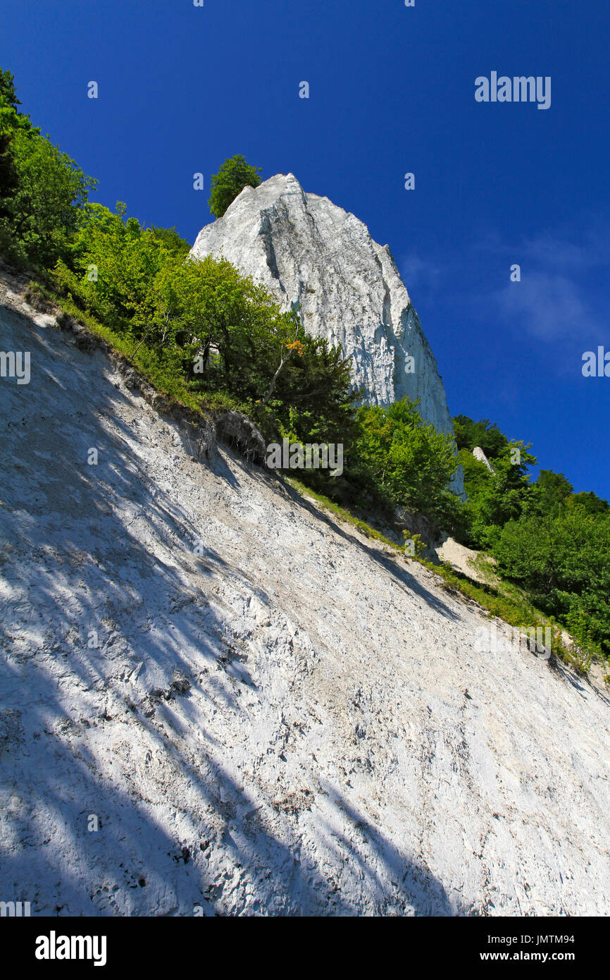 Chalk cliffs Königsstuhl, King's Chair, Jasmund National Park, Sassnitz, Mecklenburg-Western Pomerania, Germany, Stock Photo