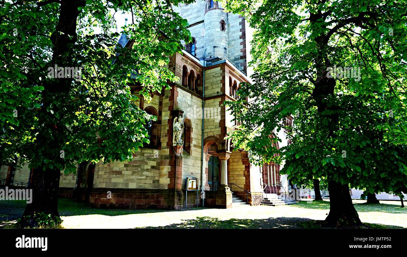Herz-Jesu-church or Sacred Heart of Jesus Church In Ettlingen, Germany - Stock Image