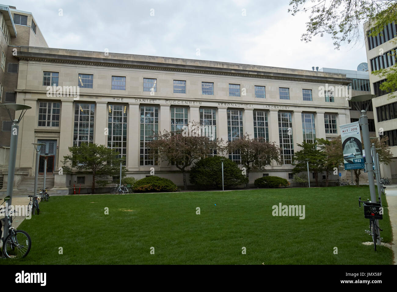daniel guggenheim aeronautical laboratory MIT massachusetts institute of technology Boston USA - Stock Image