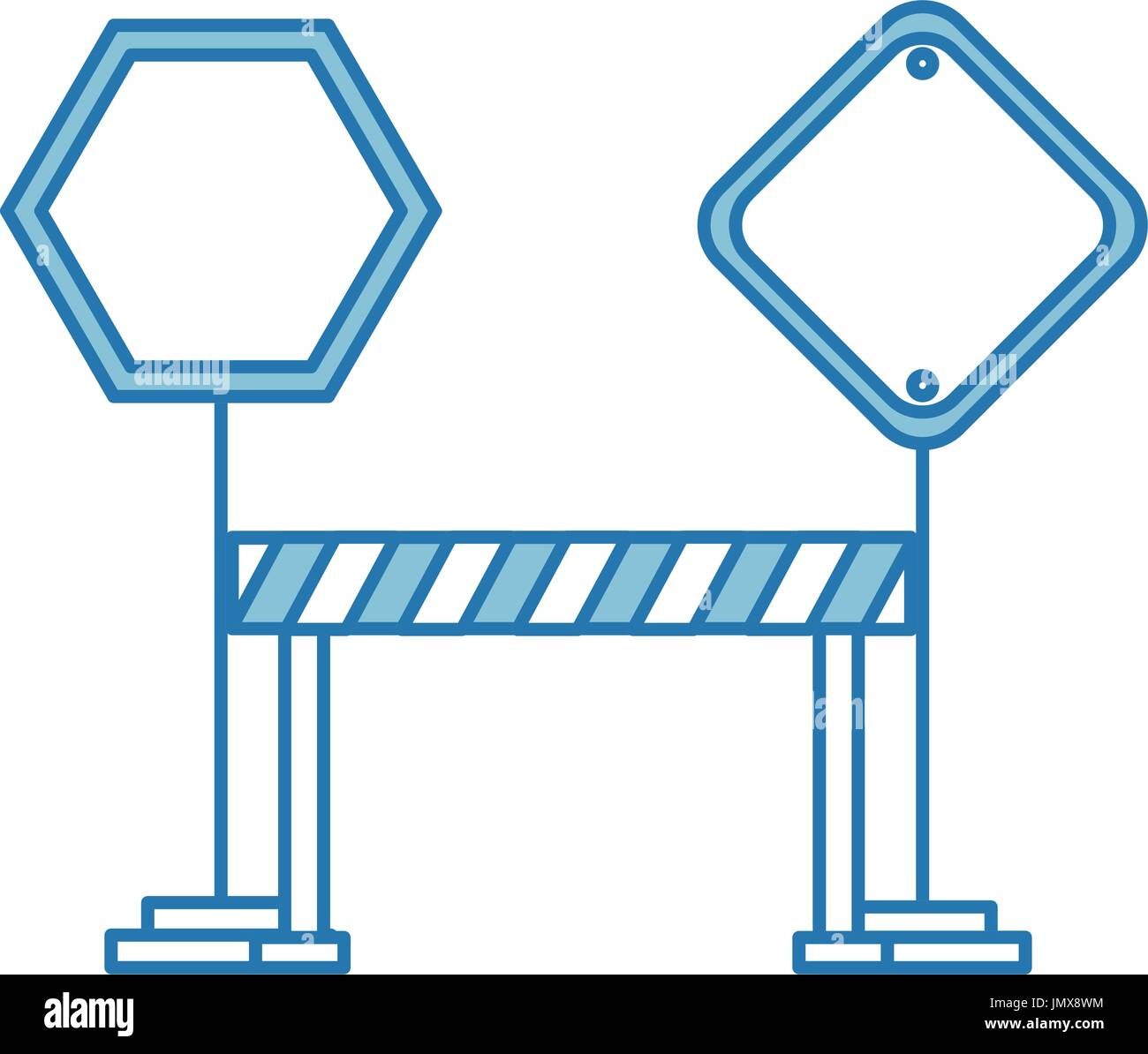 traffic signal with fence - Stock Vector