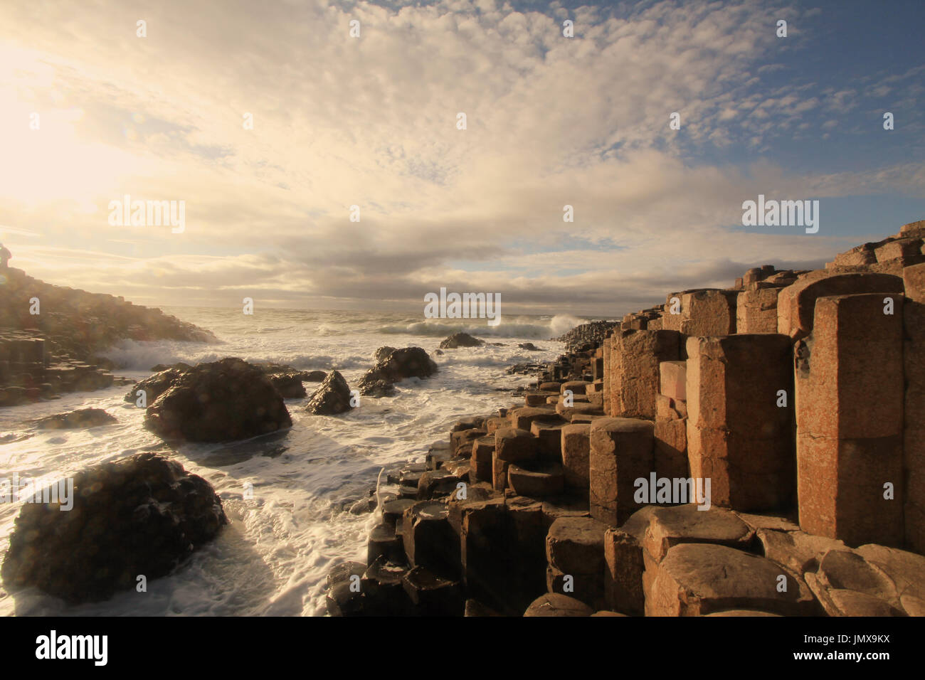 Northern Ireland, famous tourist site - Stock Image