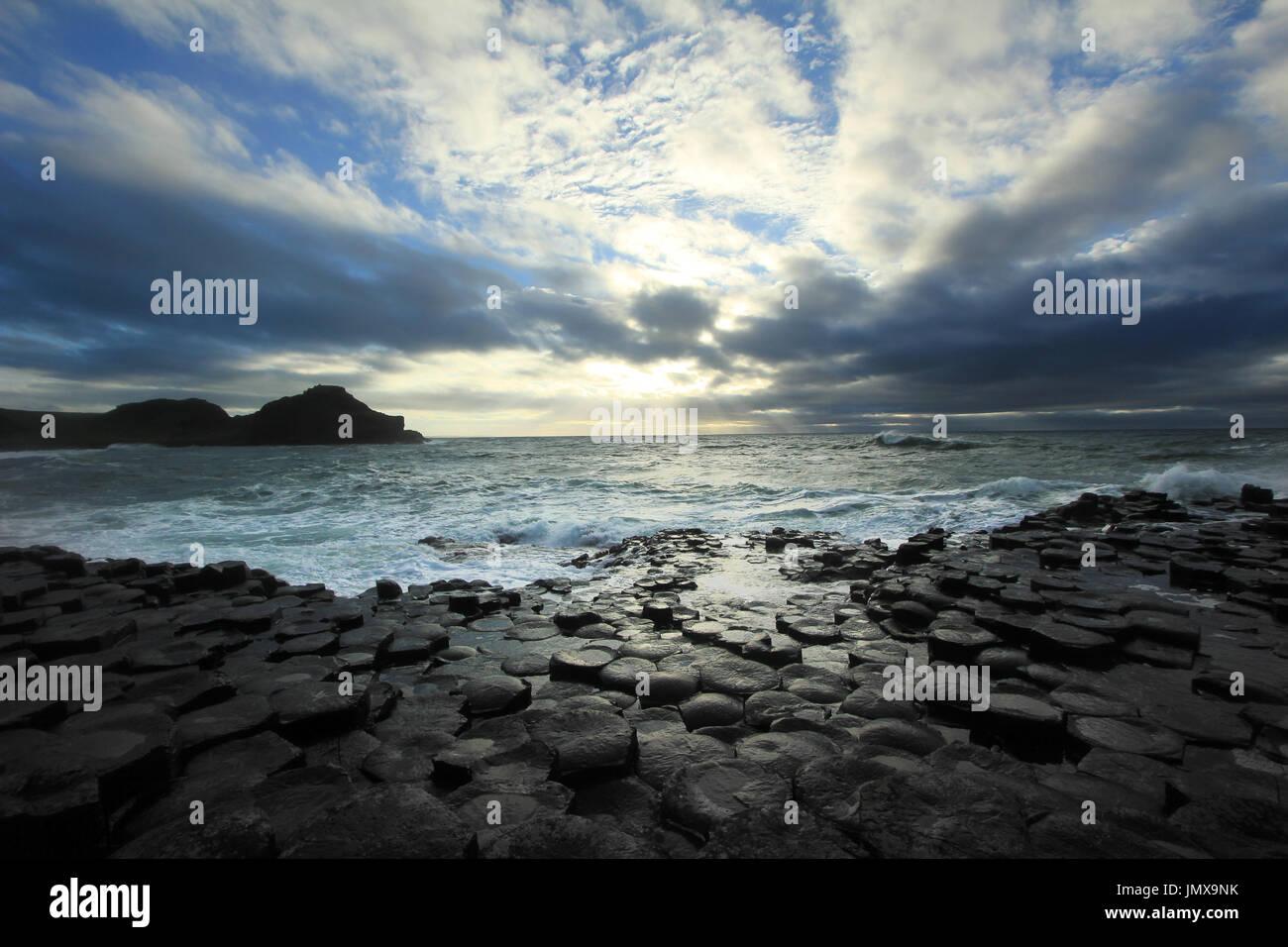 Northern Ireland, famous tourist site - Stock Image