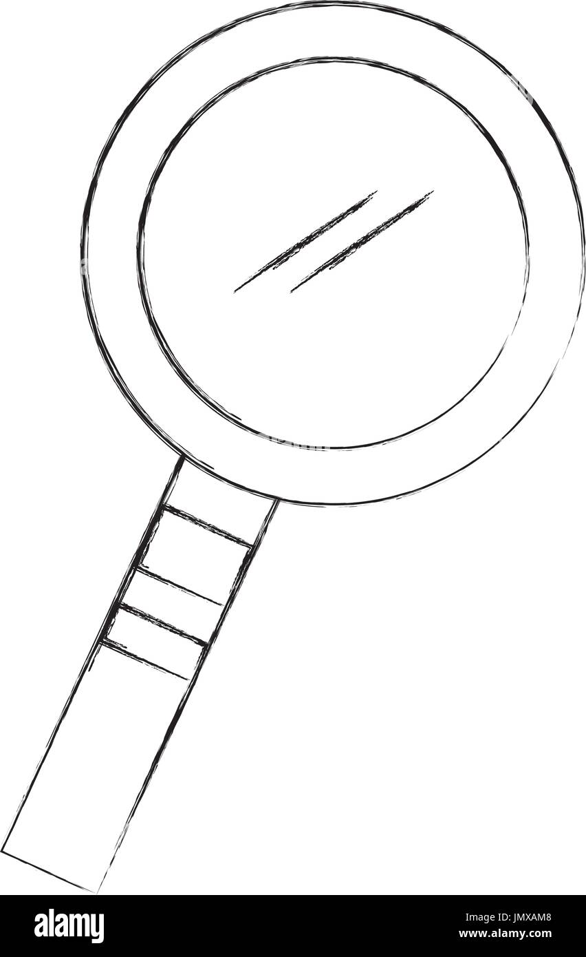search magnifying glass icon - Stock Image