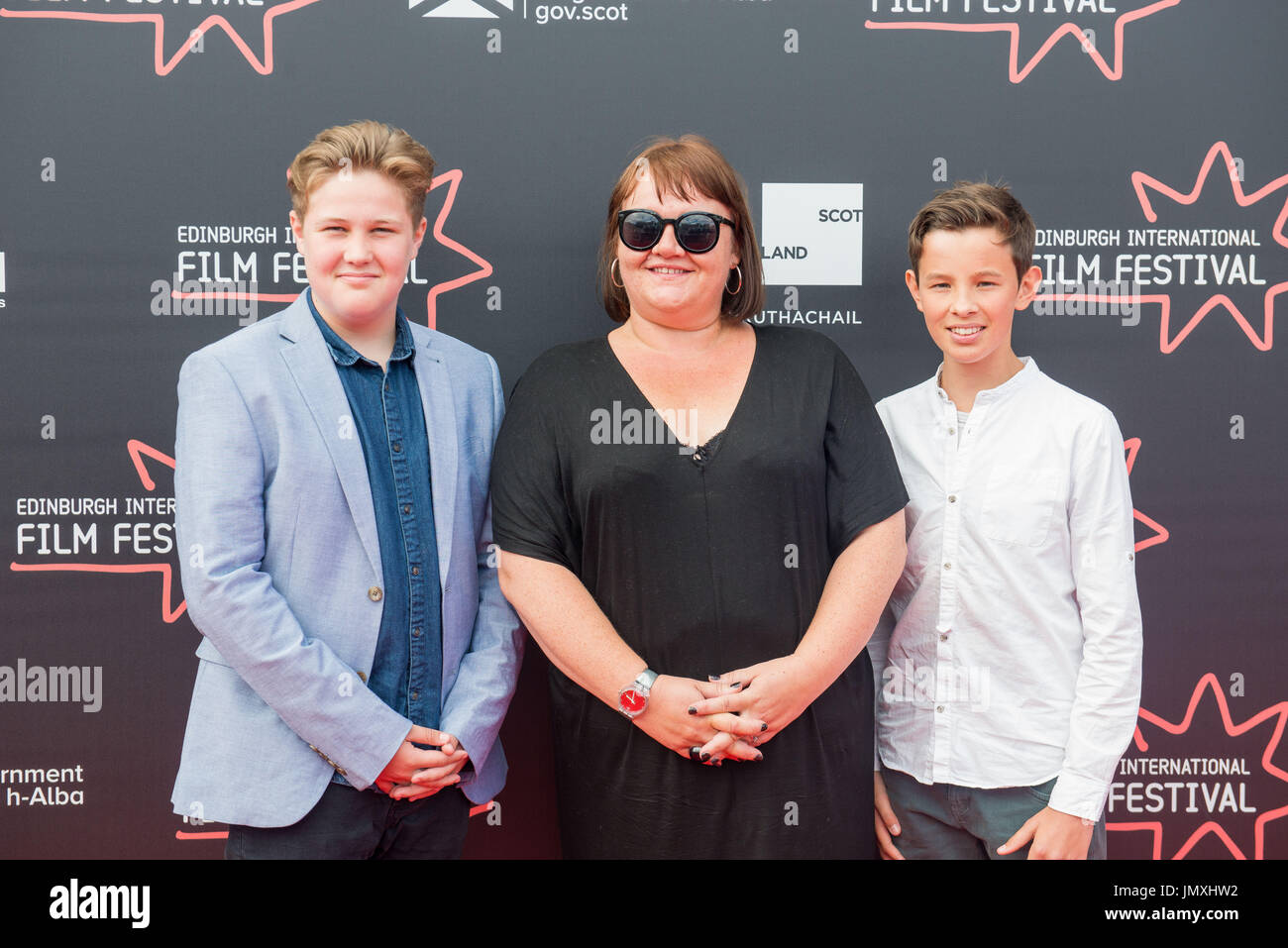 WWW.IANGEORGESONPHOTOGRAPHY.CO.UK Picture: Sam Cox, Claire Downes, Toby Haste RED CARPET Cineworld Fountian Park, Claire Downes (dir) TITLE: WE CAN B - Stock Image