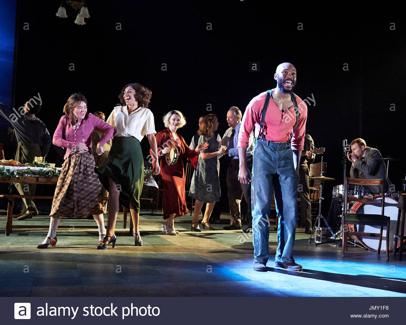 Girl From The North Country,written and directed by Conor McPherson, music and Lyrics by Bob Dylan. With Arinze Kene as Joe Scott. Opens at The Old Vic Theatre on 26/7/17. - Stock Image