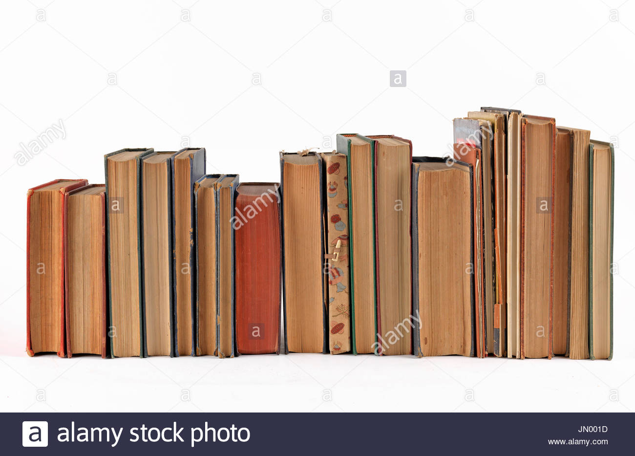 Books On A Shelf Cut Out Stock Images Pictures Alamy