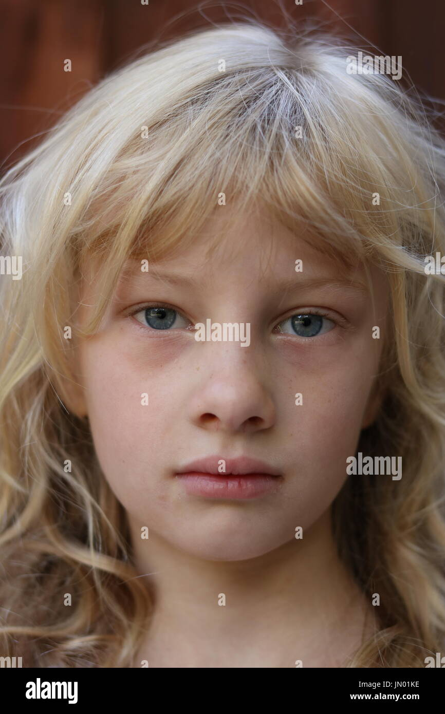 blonde hair and blue eyed child stock photos blonde hair and blue