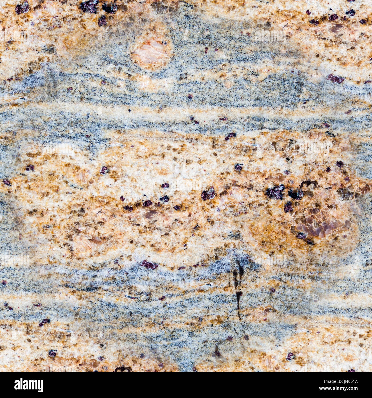 seamless decorative grainy gray-brown marble. texture, background, geology. - Stock Image
