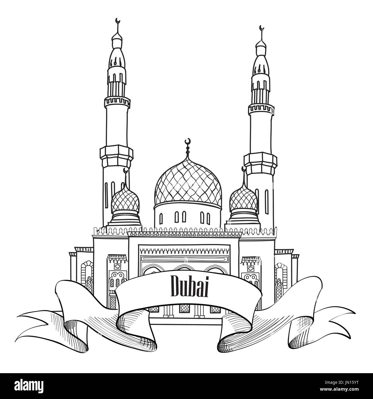Dubai cut out stock images pictures alamy dubai city label travel uae symbol stock image buycottarizona Gallery