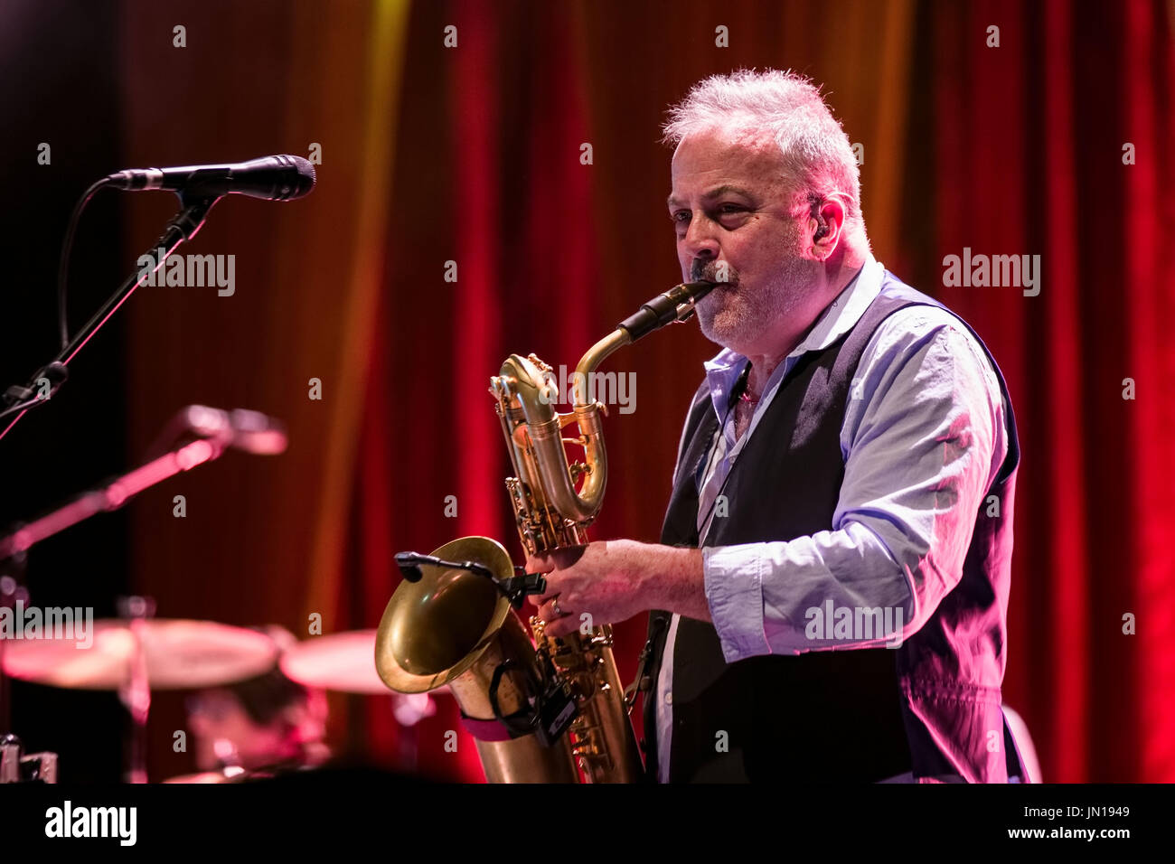Liverpool, Merseyside, UK. 28th July, 2017. Brian Wilson's band performing The Beach Boy's classic album Pet Sounds Live at Liverpool Exhibition Centre Credit: Andy Von Pip/ZUMA Wire/Alamy Live News - Stock Image