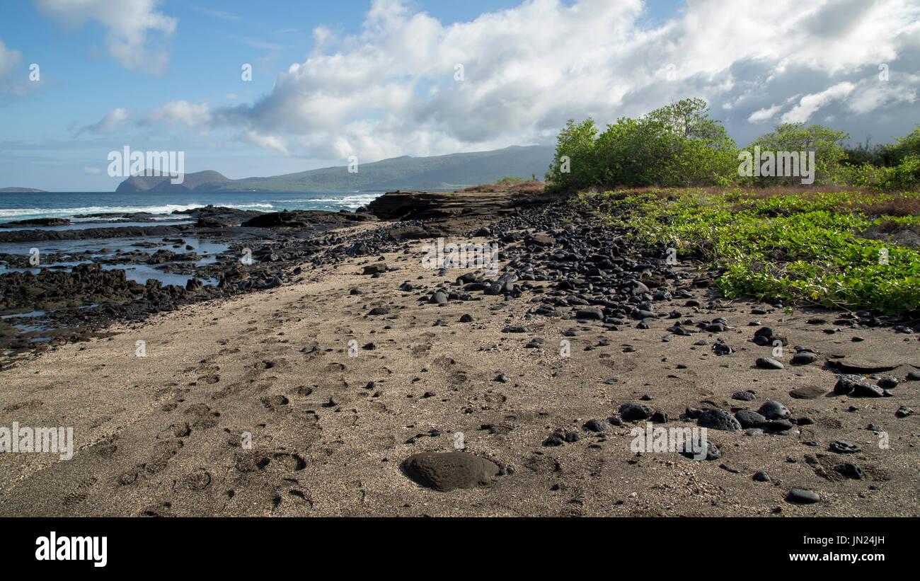 Galapagos Islands Landscape - Paisaje Islas Galápagos Stock Photo
