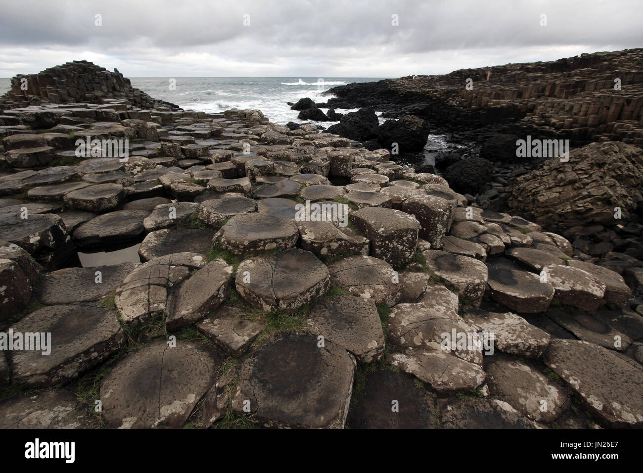 famous tourist site in Northern Ireland, film set of Dracula movie - Stock Image