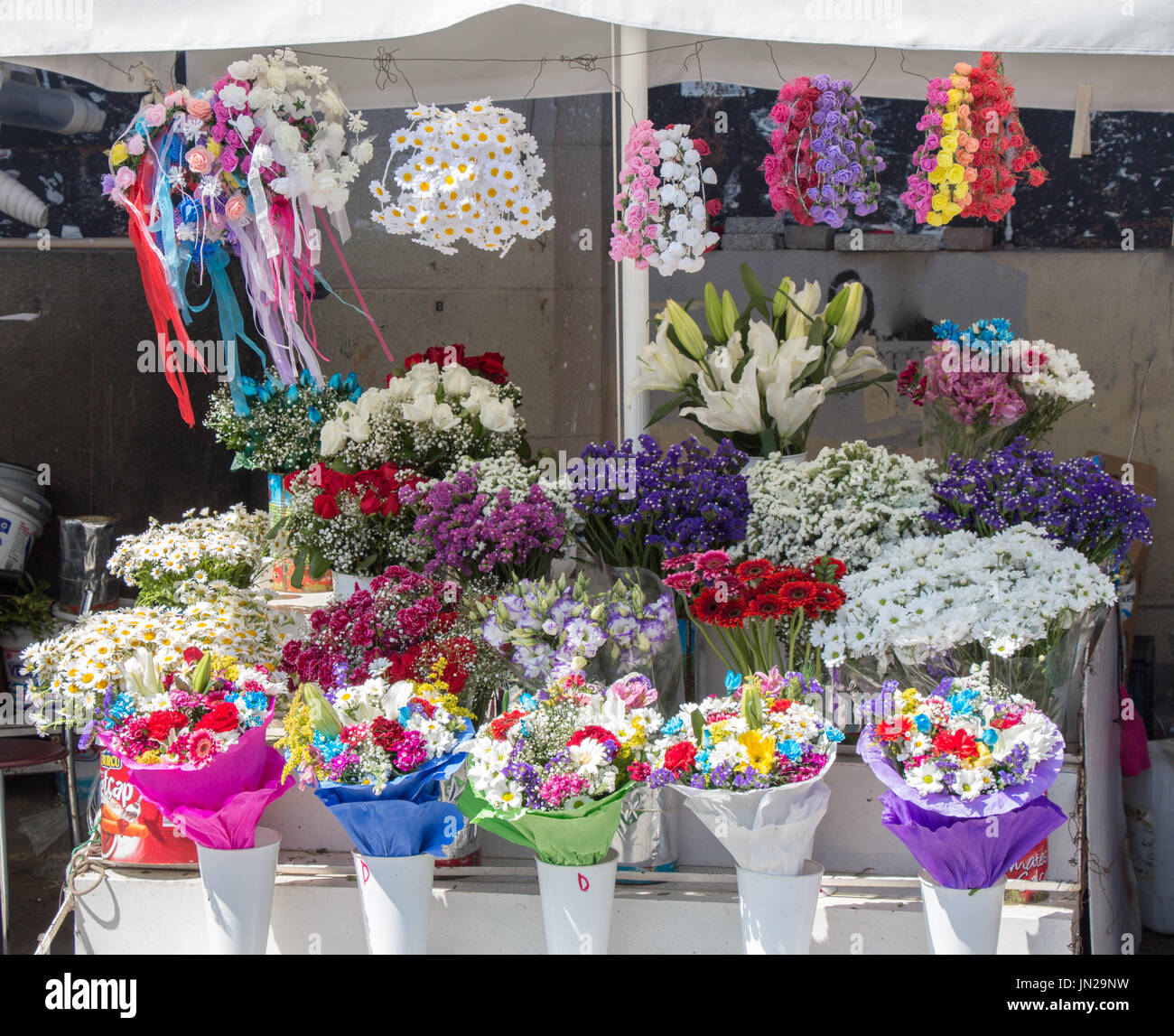 Beautiful flowers of various types in a flower in vase stock photo beautiful flowers of various types in a flower in vase izmirmasajfo