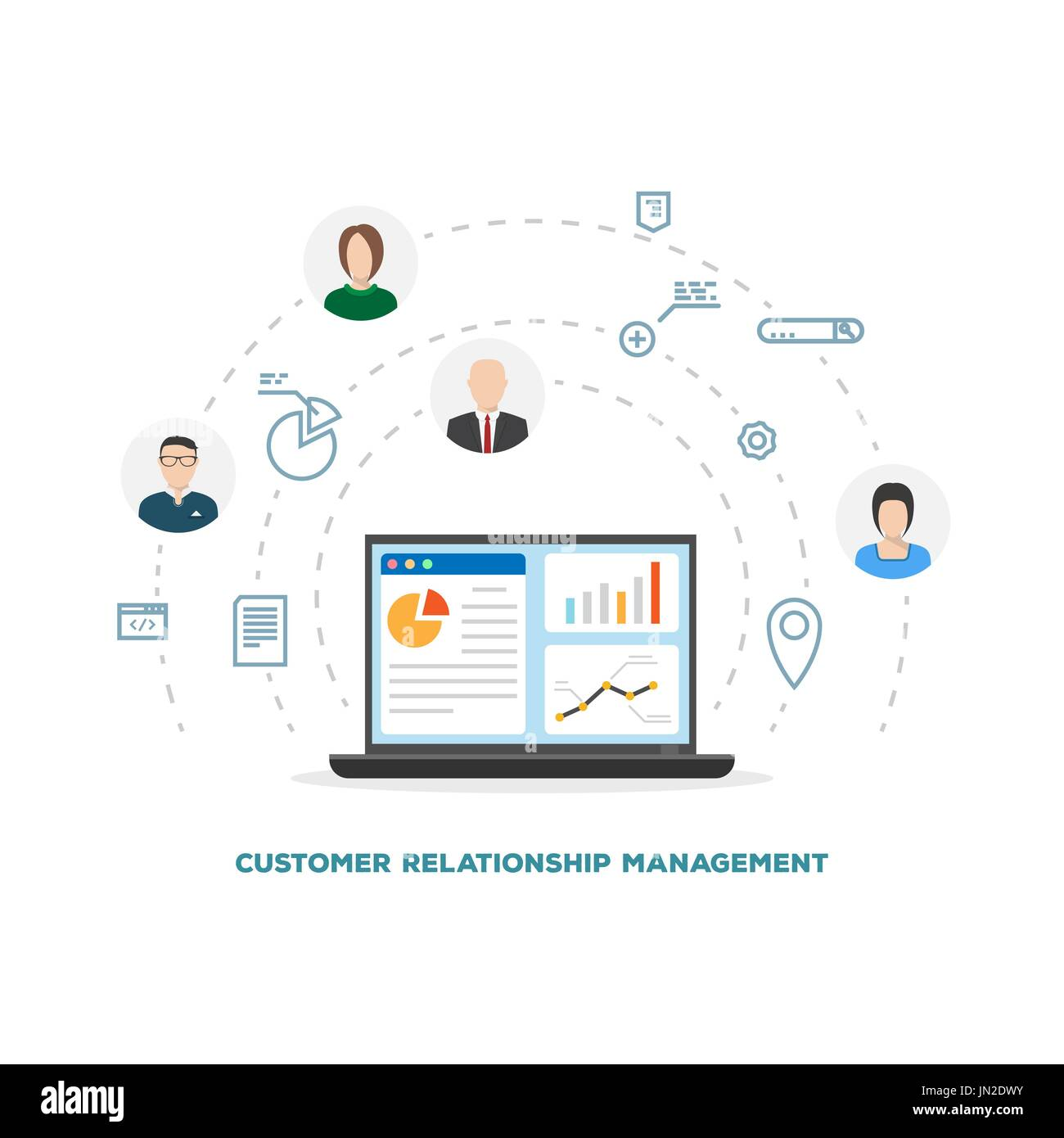 Customer relationship management - Stock Image