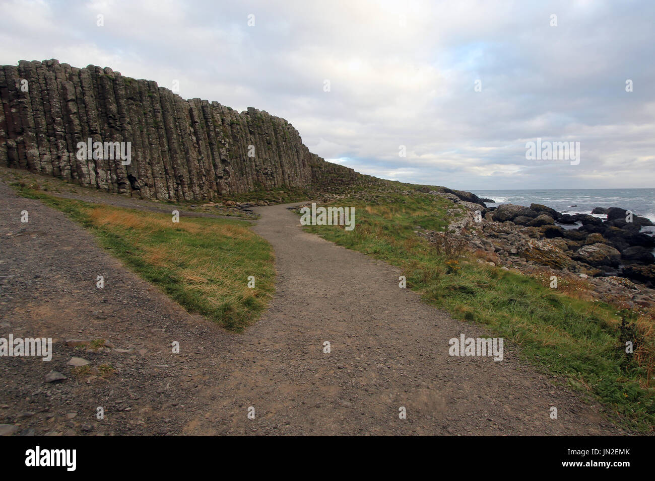 Famous tourist site in Northern Ireland (UK) - Stock Image