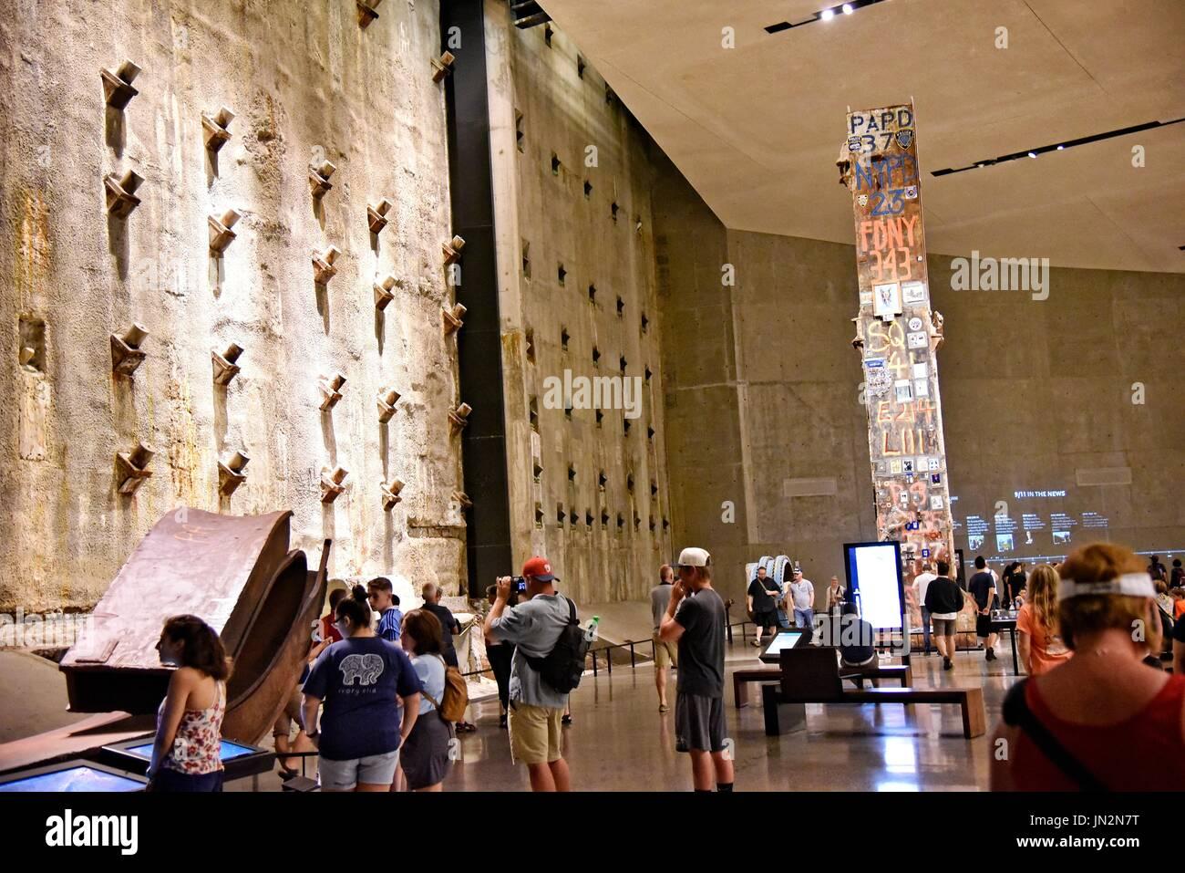 USA NY New York City Manhattan The National September 11 Memorial & Museum - Stock Image