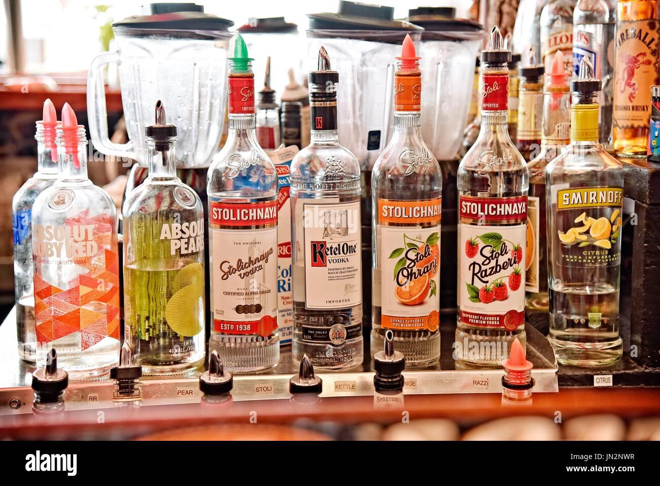 USA Fire Island NY Cherry's Bar Cherry Grove. Stock Photo