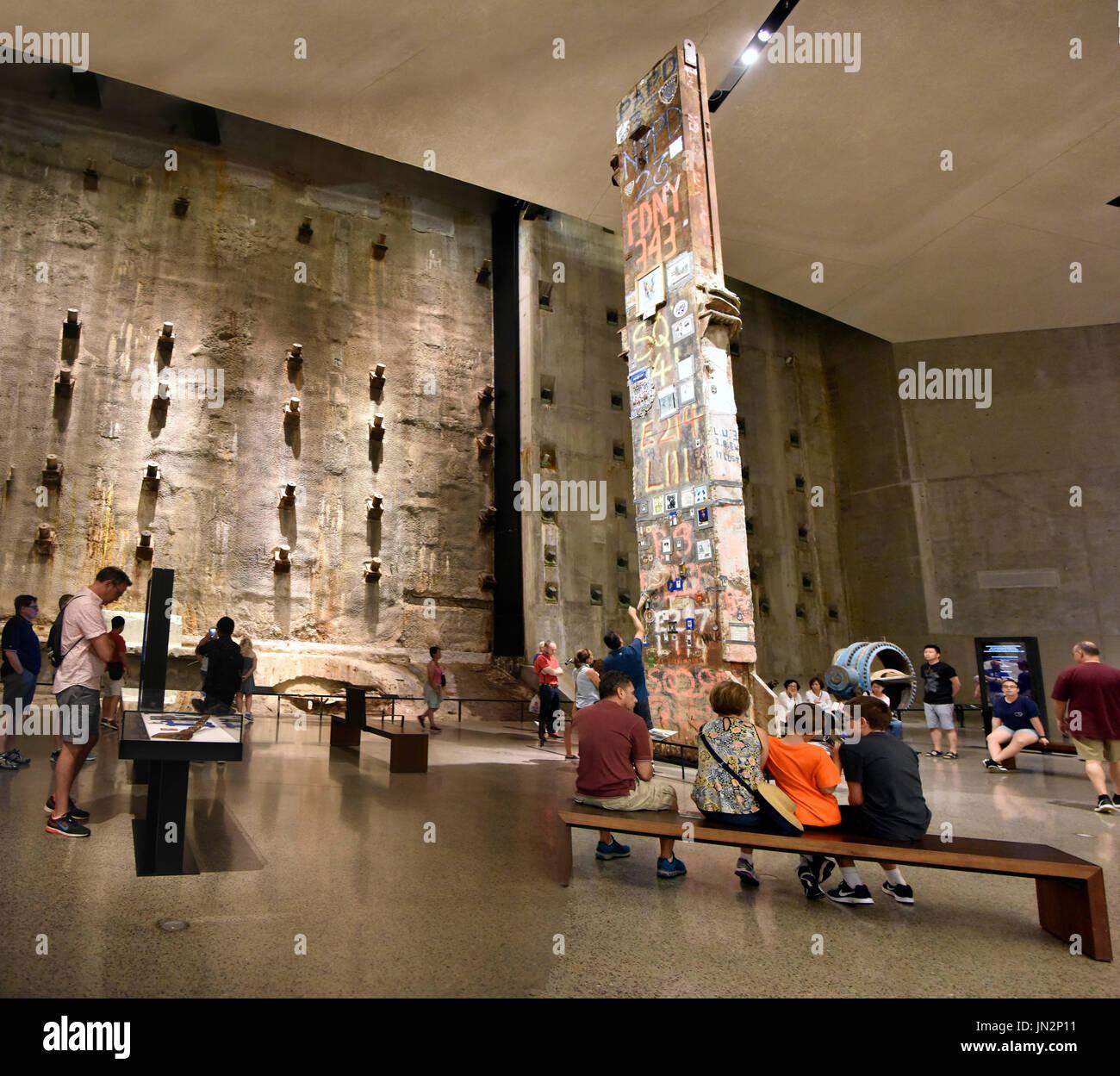 USA NY New York City Manhattan The National September 11 Memorial & Museum Stock Photo