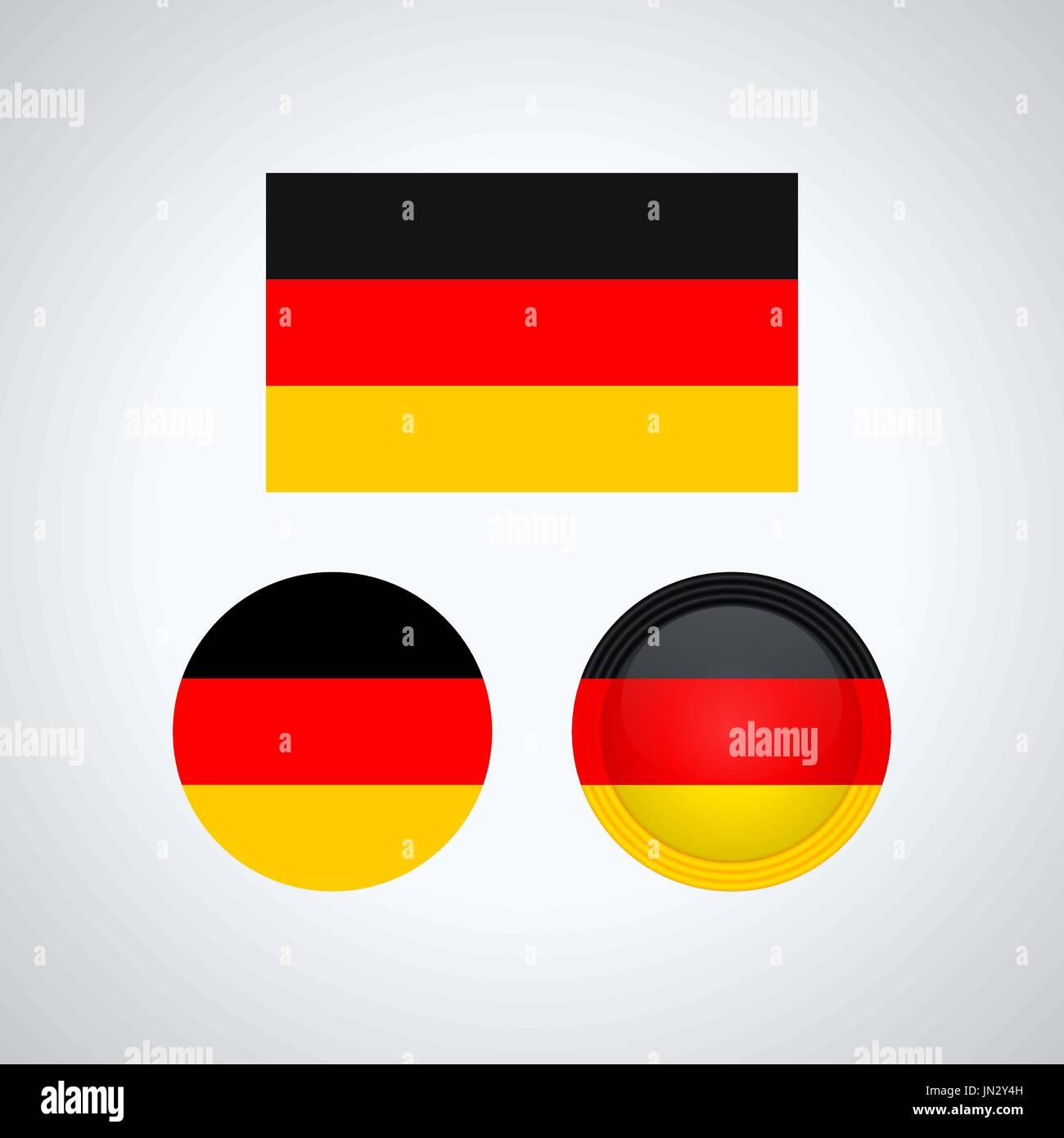 Flag design. German flag set. Isolated template for your designs. Vector illustration. - Stock Vector