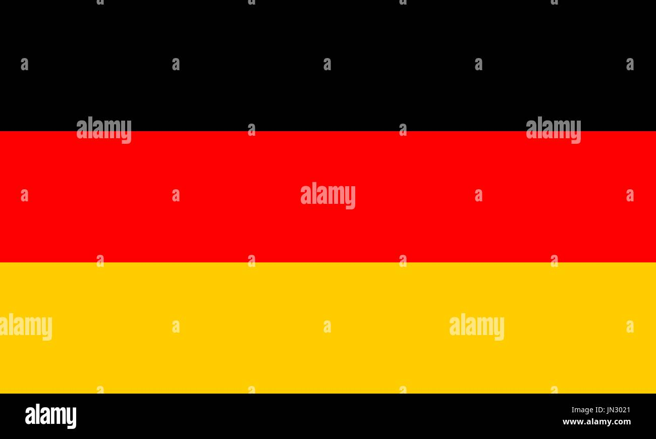 Flag design. German flag on the white background, isolated flat layout for your designs. Vector illustration. - Stock Vector