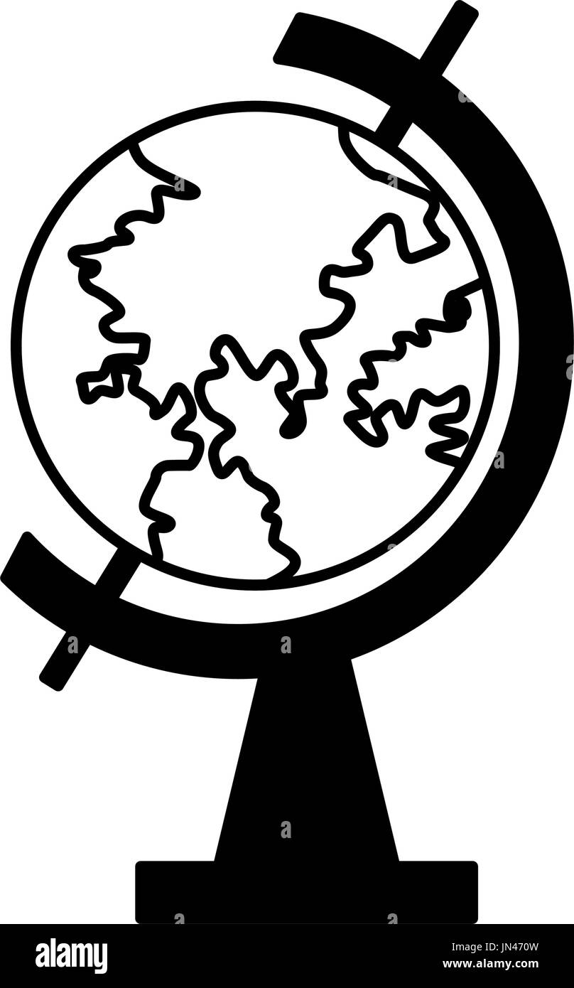 school globe geography navigation location map - Stock Image