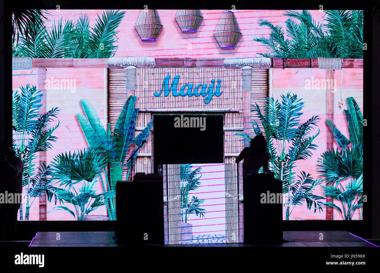 Miami Beach, FL - July 23, 2017: A view of the set for the